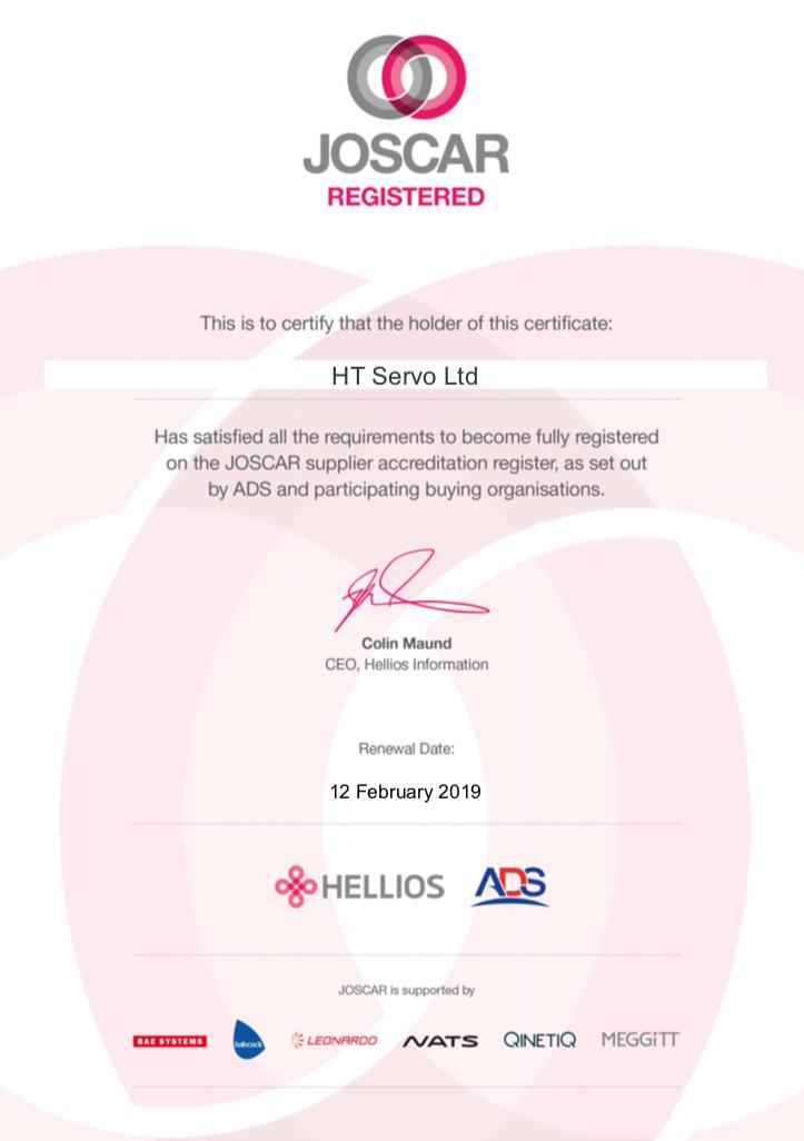 JOSCAR Certificate